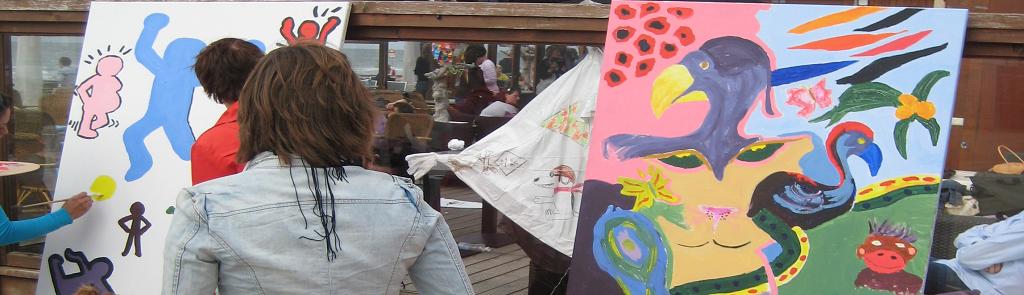 Schilderen workshop bedrijfsuitje Scheveningen Flitz-events